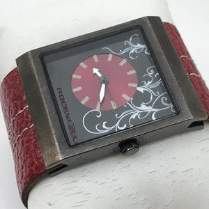 Mercedes Rockwell Women Watch Red Genuine Leather